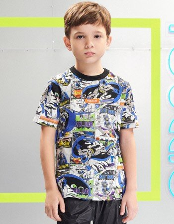 Camiseta Infantil Batman Manga Curta Youccie D0435