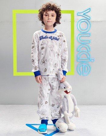 Pijama Infantil Menino Looney Tunes Branco D0551
