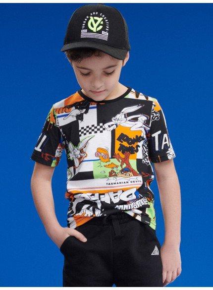 t shirt estampada looney tunes infantil menino