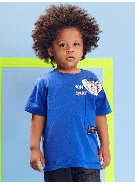 blusa azul tom e jerry infantil menino youccie
