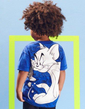 Blusa Azul Tom e Jerry Infantil Menino Youccie I0291