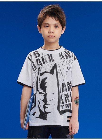 camiseta branca infantil menino batman youccie