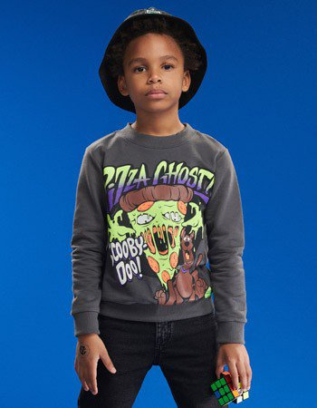 Moletom Scooby doo Cinza Infantil Masculino Youccie D0385