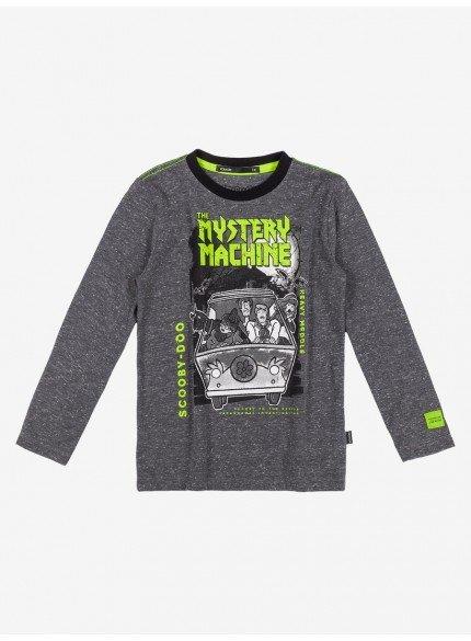 camiseta mescla scooby doo infantil menino youccie