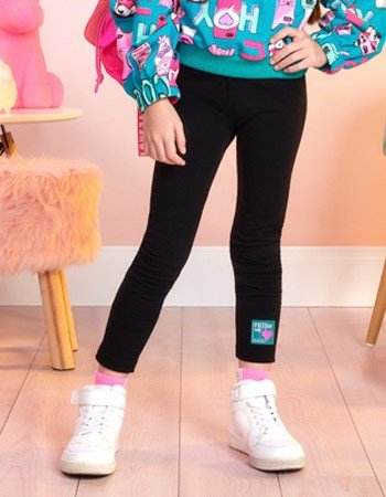 Calca Legging Infantil Preta Momi F9314