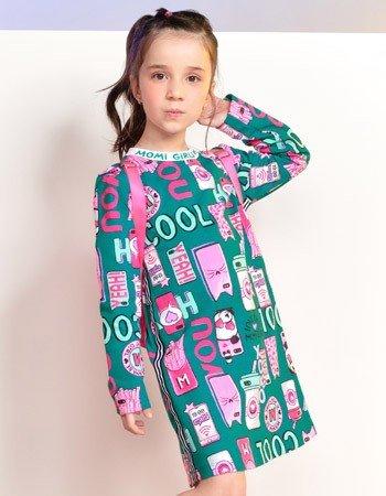 Vestido Infantil Estampa Verde Estampa Smartphone F9536