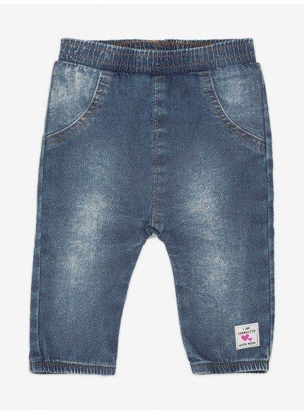 calca jeans jogger bebe menina momi